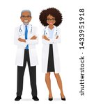 male and female doctor isolated.... | Shutterstock .eps vector #1433951918