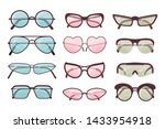 colorful sunglasses vector set. ... | Shutterstock .eps vector #1433954918