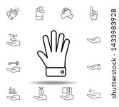 hand free gesture outline icon. ...