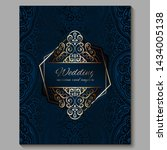 wedding invitation card with... | Shutterstock .eps vector #1434005138