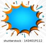 comics background. cartoon... | Shutterstock .eps vector #1434019112