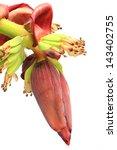 banana flower blossom with... | Shutterstock . vector #143402755