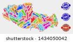vector handmade composition of... | Shutterstock .eps vector #1434050042