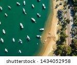 Aerial view of Ilhabela Beach island, Sao Paulo, Brazil