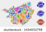 vector handmade combination of... | Shutterstock .eps vector #1434053798