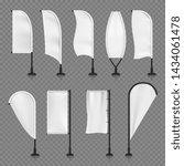 white blank textile vertical... | Shutterstock . vector #1434061478