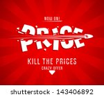 kill the prices design template ... | Shutterstock .eps vector #143406892