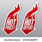 hot offer hot price fiery... | Shutterstock .eps vector #143406895
