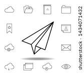 paper plane outline icon....