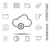 data settings cloud outline...