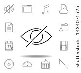 disable eye hide outline icon....