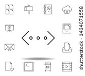 brackets code html outline icon....