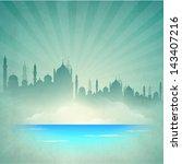 muslim community festival... | Shutterstock .eps vector #143407216