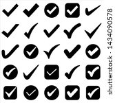 set of check mark icon. symbol...