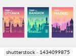 travel information cards.... | Shutterstock .eps vector #1434099875