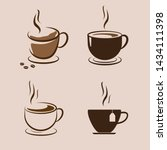 coffee cup icon set. vector... | Shutterstock .eps vector #1434111398