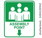 assembly point  sign and sticker   Shutterstock .eps vector #1434120542