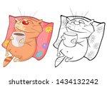 vector illustration of a cute...   Shutterstock .eps vector #1434132242