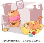 signs that your cat is sick....   Shutterstock .eps vector #1434132248