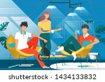 friends at home vector... | Shutterstock .eps vector #1434133832