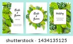 wedding invitation set with... | Shutterstock .eps vector #1434135125