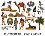 ancient egypt vector sketches... | Shutterstock .eps vector #1434143405