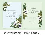 sky blue and green wedding... | Shutterstock .eps vector #1434150572