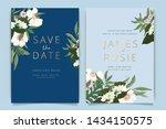 sky blue and green wedding...   Shutterstock .eps vector #1434150575