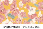 floral seamless pattern ... | Shutterstock .eps vector #1434162158