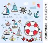Marine Nautical Travel Icons....
