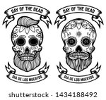 day of the dead dia de los... | Shutterstock .eps vector #1434188492