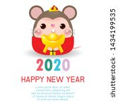 happy new year 2020. chinese... | Shutterstock .eps vector #1434199535