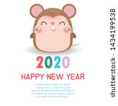 happy new year 2020. chinese... | Shutterstock .eps vector #1434199538