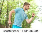 sport is way of life. sportsman ... | Shutterstock . vector #1434203285