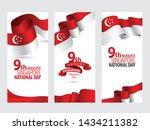 vector red color flat design ... | Shutterstock .eps vector #1434211382