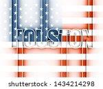 houston city name in geometry... | Shutterstock . vector #1434214298