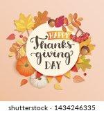 happy thanksgiving day banner ... | Shutterstock .eps vector #1434246335