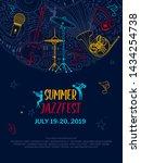 jazz music night event poster... | Shutterstock .eps vector #1434254738