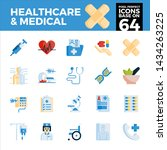 healthcare and medical pixel... | Shutterstock .eps vector #1434263225