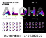 futuristic glitch font. modern...   Shutterstock .eps vector #1434283802