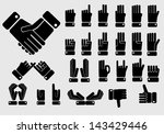 icon of hand set | Shutterstock .eps vector #143429446
