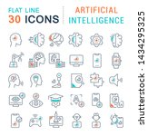 set of line icons of artificial ... | Shutterstock . vector #1434295325