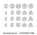 simple set of business people... | Shutterstock .eps vector #1434301748