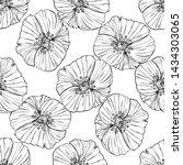 flower popies graphic design.... | Shutterstock .eps vector #1434303065