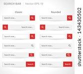 search bar template   vector... | Shutterstock .eps vector #143430502