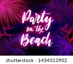 dark blue and violet tropical... | Shutterstock .eps vector #1434312902