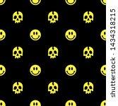 skull and smile seamless...   Shutterstock .eps vector #1434318215