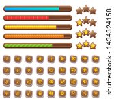 cartoon wooden game assets ...
