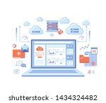 cloud computing and web... | Shutterstock .eps vector #1434324482