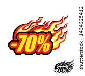 hot discount of 70   colored... | Shutterstock .eps vector #1434325412